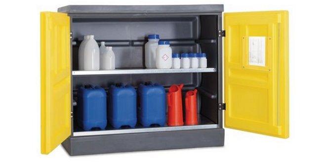 Armarios para bases y cidos productos qu micos y medio for Gabinete de almacenamiento dormitorio